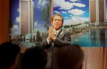 Steve Wynn unveiled renderings for the proposed Everett casino in May 2013.
